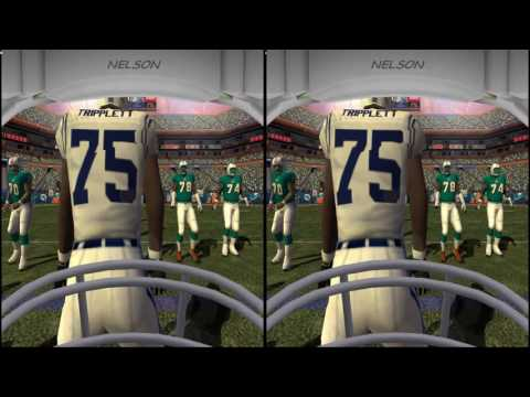 NFL 2K5 1st person 3D in VR headset? Touchdown!