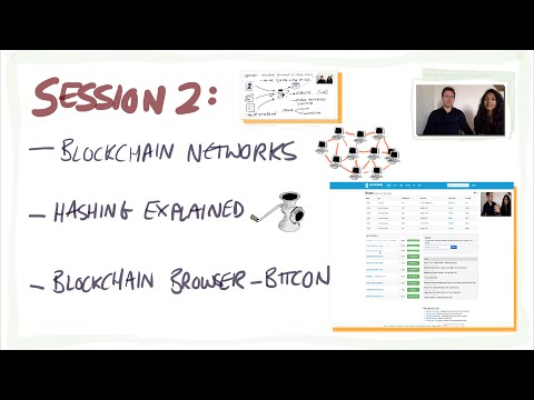 Blockchain/Bitcoin for beginners 2: Hashing, blockchain networks, blockchain browser