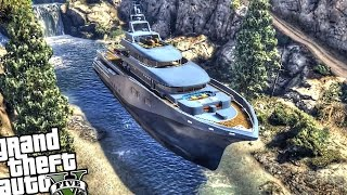 EPIC DRIVABLE YACHT - GTA 5 MOD
