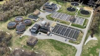 UAV Large Waste Water Treatment Plant