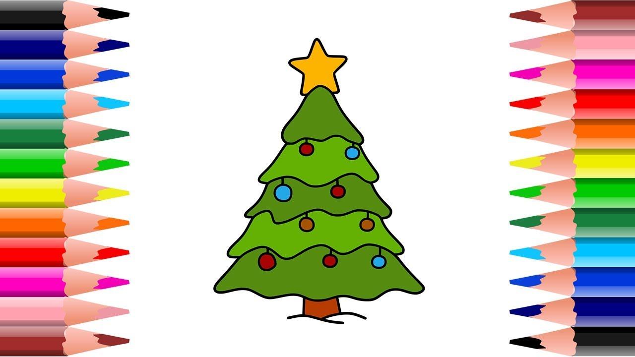 Menggambar Dan Mewarnai Pohon Natal