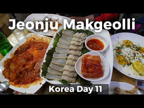 Jeonju Makgeolli - Best SOUTH KOREAN FOOD Experience! (Day 1