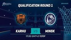 Karhu Basket v Tsmoki-Minsk - Full Game - Qual. Rd. 1 - Basketball Champions League 2019-20