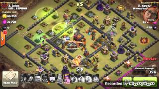 Clash of clans beating the square base