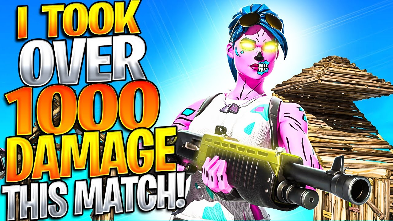I Took Over 1,000 Damage This Match And STILL Won! (Fortnite Most Damage TAKEN)