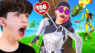 Heart Rate Monitor Challenge with My Little Brother! - Fortnite