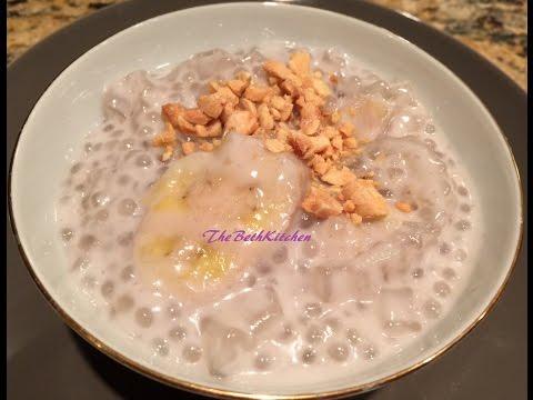 Chè Chuối _ Banana, Tapioca and Coconut Pudding.