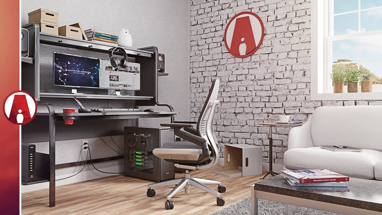 Home Office Gaming Room 3d Model Youtube