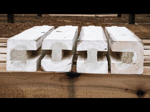 WOODWORK | TIMBER FRAME BASICS | FINISHING THE POST FOR THE CABIN PURLINS