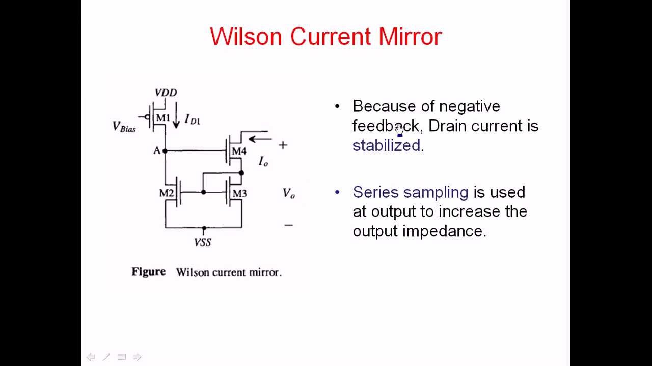 Wilson current mirror operation calculation of gain and output wilson current mirror operation calculation of gain and output impedance youtube sciox Images
