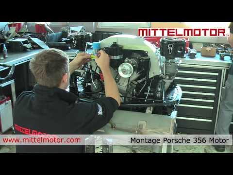 Montage Porsche 356 Motor bei Mittelmotor GmbH