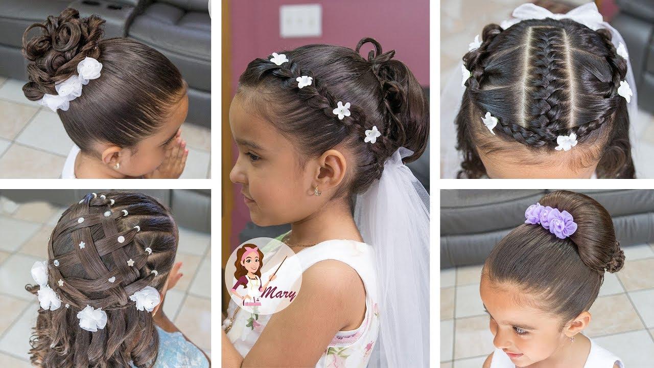 Completamente imperfecto peinados de comunion niña Galería De Consejos De Color De Pelo - 5 PEINADOS Para Primera Comunión De Niña - YouTube