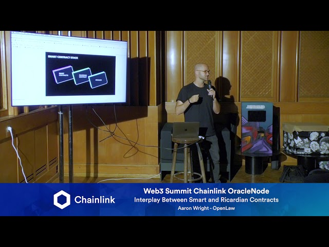Chainlink Web3 Summit HackerNode: Interplay Between Smart & Ricardian Contracts