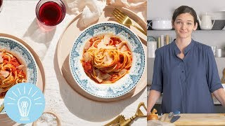 Marcella Hazan's Tomato Sauce with Onion & Butter | Genius Recipes