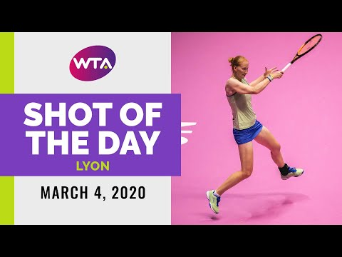 Alison Van Uytvanck | 2020 Lyon Day 3 | Shot of the Day