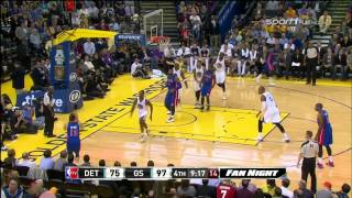 Luigi Datome - Golden State Warriors @ Detroit Pistons (Nov 12, 2013)