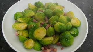 BRUSSELS SPROUTS RECIPE WITH PANCETTA BACON BEST FOR CHRISTMAS OR THANKSGIVING