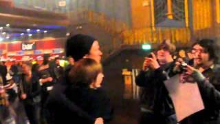 Angels and Airwaves - meet Tom DeLonge at VIP soundcheck in London HMV Forum - 4.2.2011