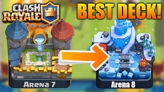 *BEST* NO LEGENDARIES DECK in Clash Royale! (Arena 7 & Arena 8)