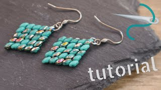 Superduo earrings | Easy beadweaving tutorial