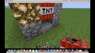Minecraft How to make a TNT cannon that blasts through water walls *READ DESC PLEASE*