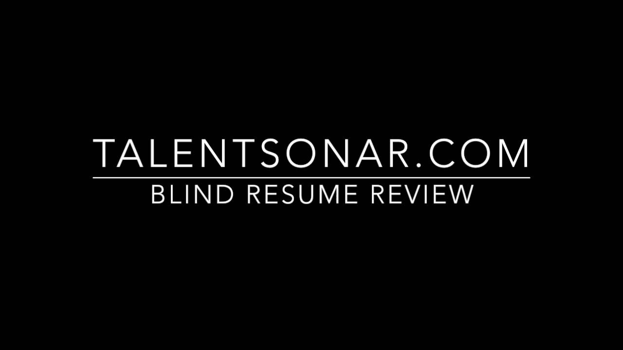 talentsonar blind resume review