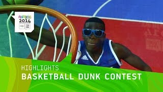 France Wins Men's Basketball Dunk Contest Gold - Highlights | Nanjing 2014 Youth Olympic Games