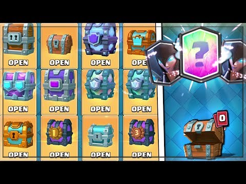 OPENING EVERY CHEST IN CLASH ROYALE! Best FREE LEGENDARY & x4 NIGHT WITCHES!