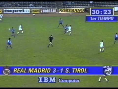 REAL MADRID - FC TIROL 9:1 - EC DER LANDESMEISTER 1990 - ERNST HAPPEL