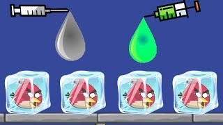 Unfreeze Angry Birds - RESCUE THE FROZEN BIRDS BY DRAWING COLOR WATER WAY!
