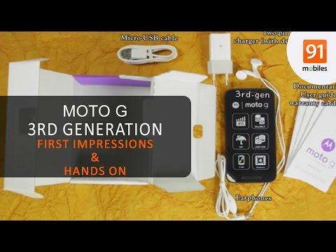 Moto G 3rd gen: First Look | Hands on | Price