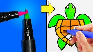 22 FUNNY DRAWING TRICKS FOR EVERYONE