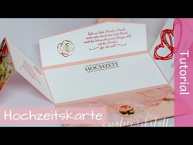 Besonderes Kartenformat Hochzeit - Wedding Folding Card - Tutorial - Stampin' Up! - YouTube