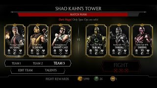 Mortal Kombat X Android Shao Kahn's Tower Fight 79 - 89