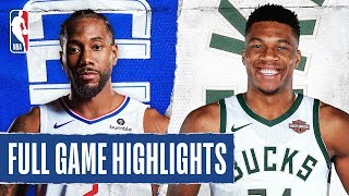 CLIPPERS at BUCKS | FULL GAME HIGHLIGHTS | December 6, 2019