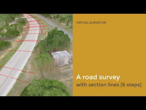 A Road Survey With Section Lines [6 Steps]