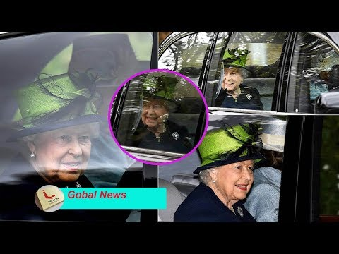 Queen smiles and waves as she attends the final event at church during the Balmoral holiday..Why?