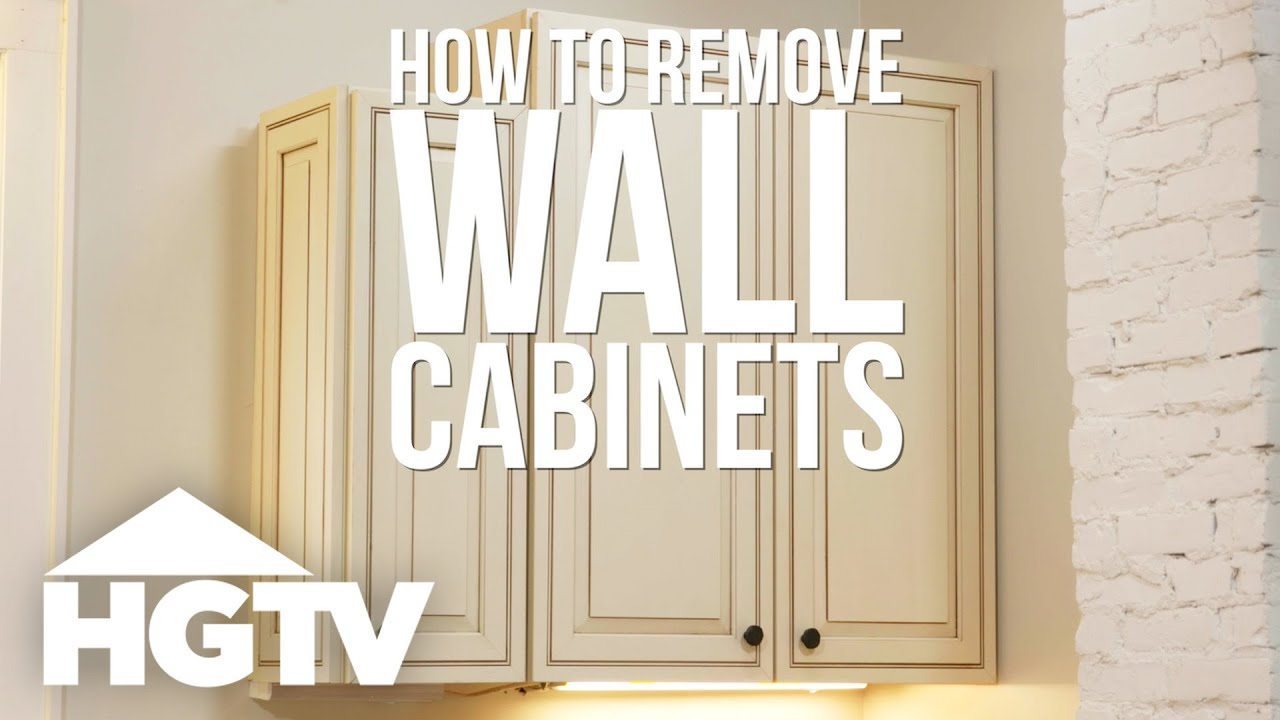 How To Remove Kitchen Cabinets Hgtv