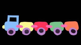 How to make a colored paper train for school wall decoration - EP - simplekidscrafts