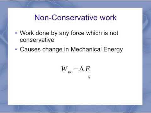 Non-Conservative Work Equation