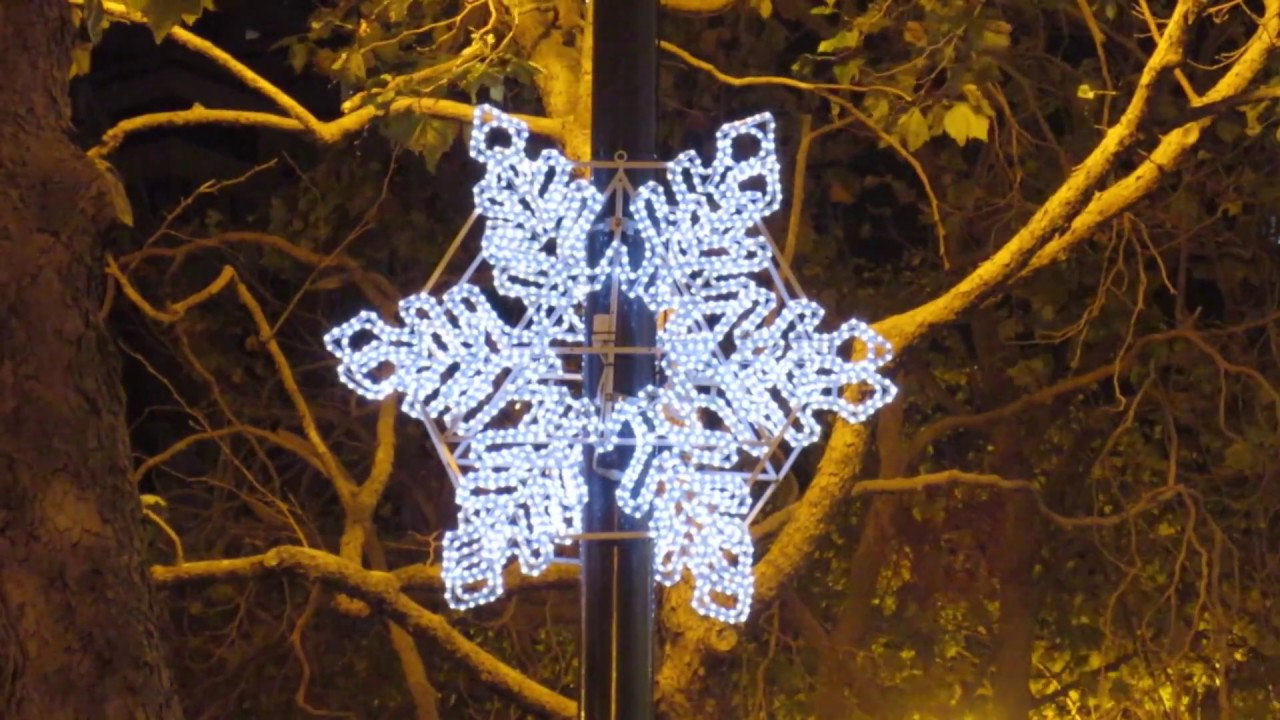 Snowflake Lighting Ceremony 2017 Market Street San Francisco California