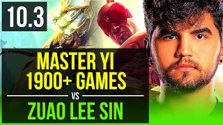 MASTER YI vs Zuao LEE SIN (JUNGLE) | Rank 1 Master Yi, 1900+ games | BR Challenger | v10.3