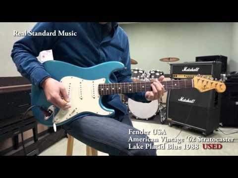 Fender USA American Vintage '62 Stratocaster/Lake Placid Blue 1988 USED