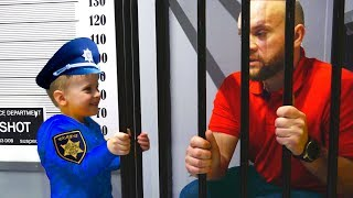 Max plaing as Cop Police and Dad go to Jail