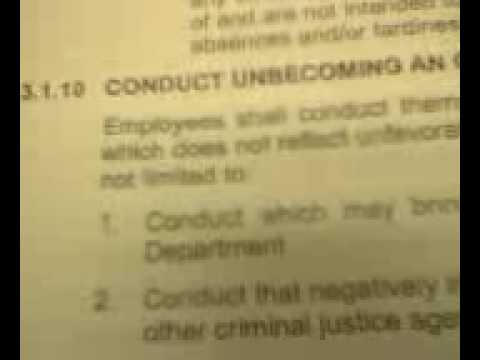 Conduct Unbecoming an Officer or Employee