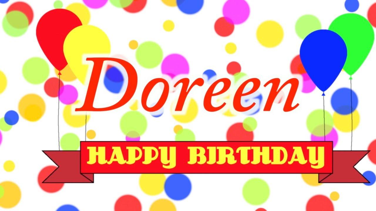 Happy Birthday Doreen Song Youtube