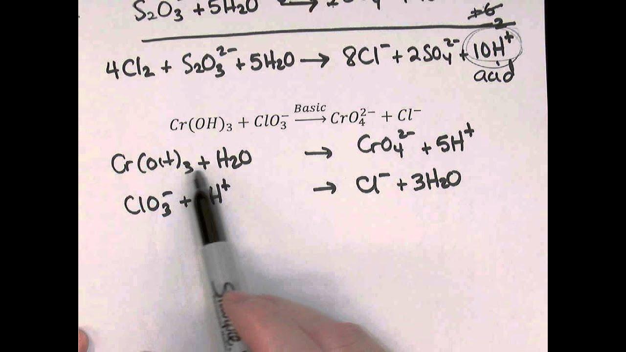 Balancing Redox Reactions With Half Reaction Method