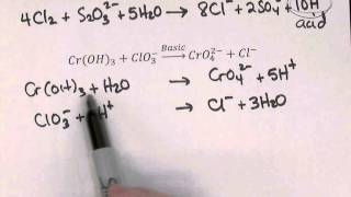 Balancing Redox Reactions with Half Reaction Method
