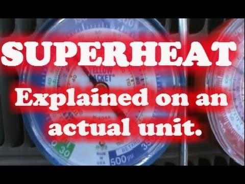 HVAC SUPERHEAT explained on a real unit. R-410A analogue gauges