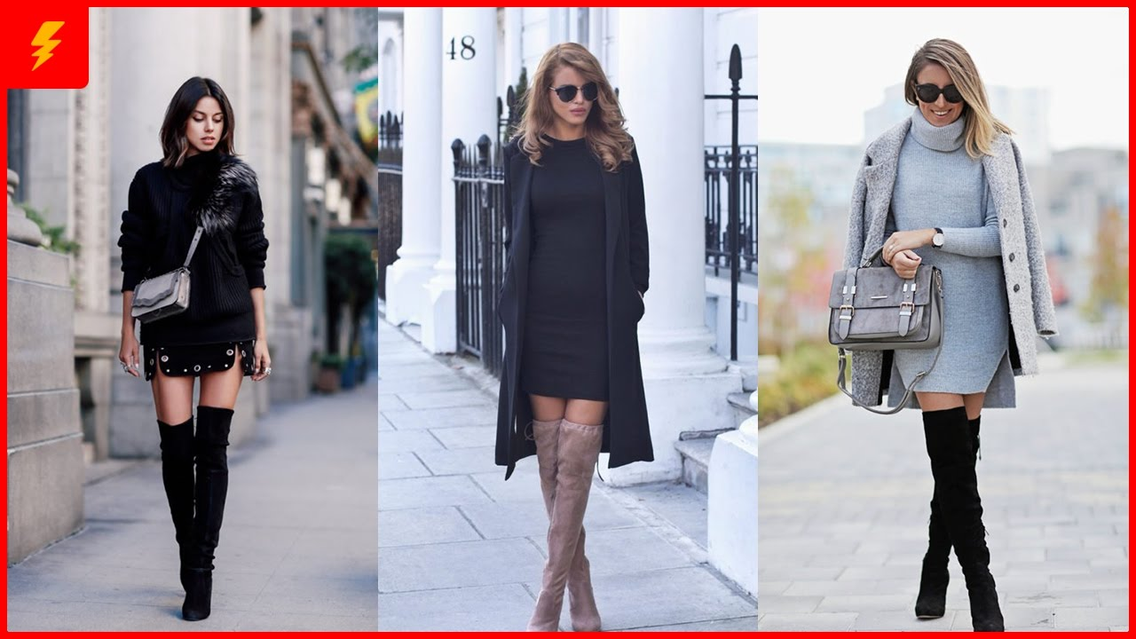 How To Wear Over The Knee Boots For This Winter Youtube
